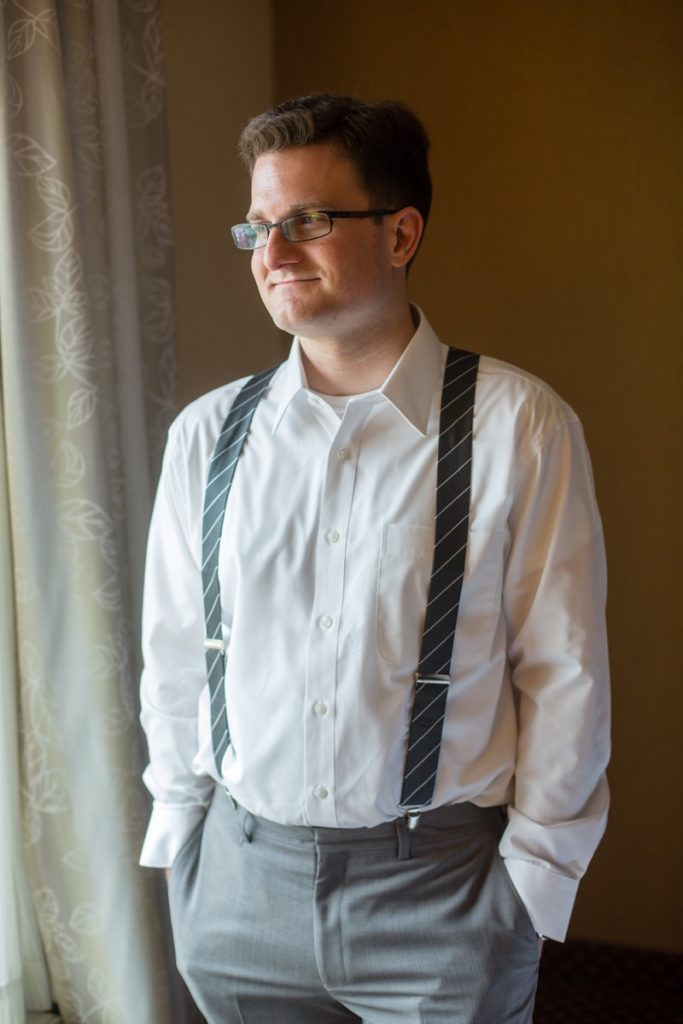 Navy Pencil Pinstripe suspenders