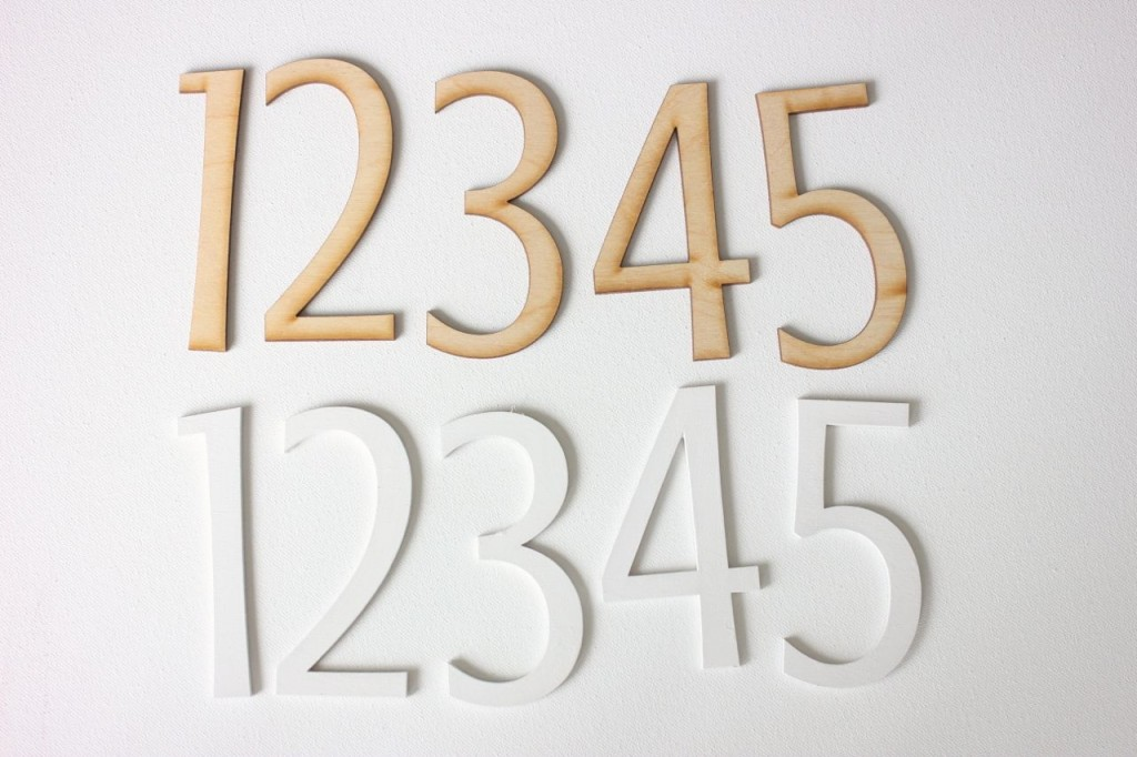 laser cut wood numbers