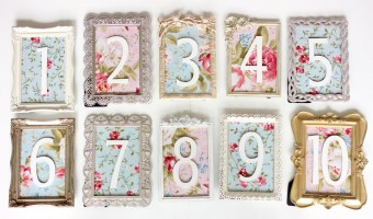 Wedding Wednesday: Vintage Table Number DIY