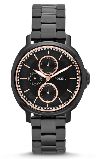 chelsey black fossil watch