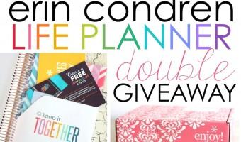 Erin Condren Life Planner Double Giveaway!