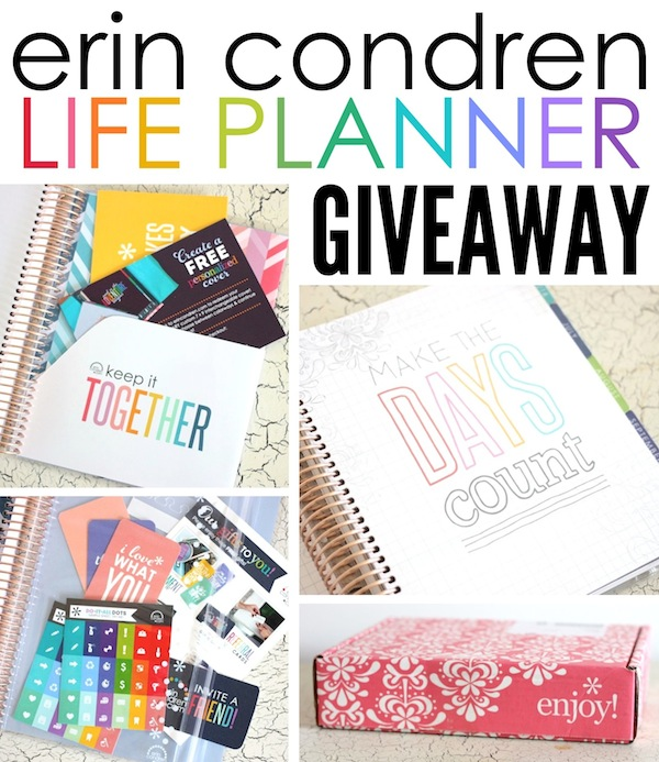 Enter to WIN an Erin Condren Life Planner!