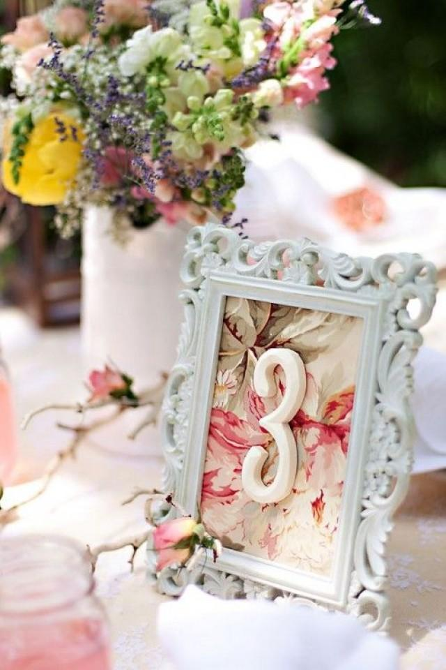 Wedding wednesday vintage table number diy for Table numbers