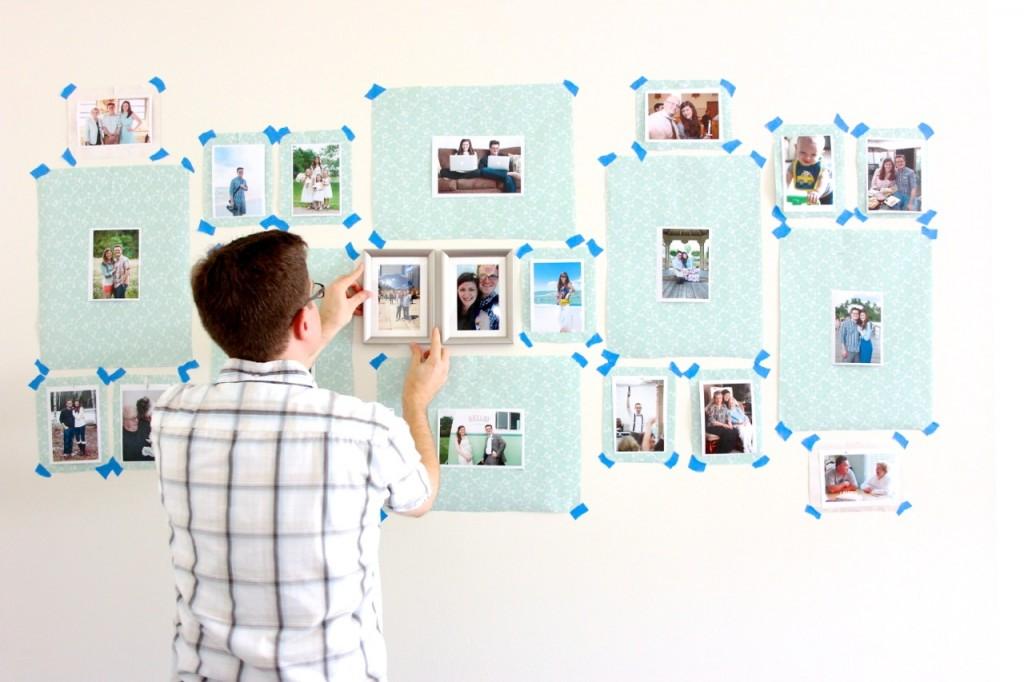 creating a gallery wall with IKEA SILVERHÖJDEN frames