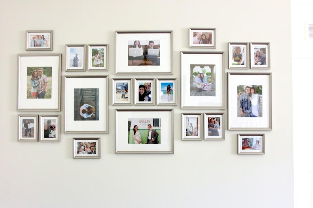 budget-friendly gallery wall made with SILVERHÖJDEN frames from IKEA
