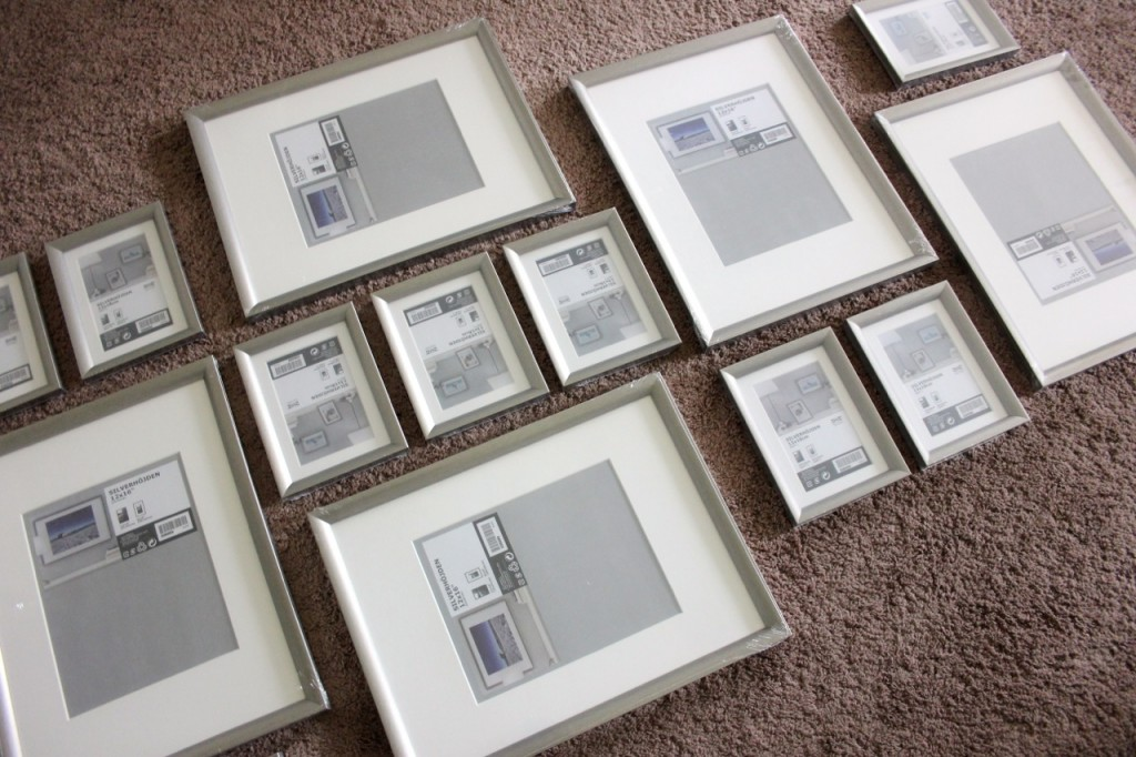 creating a gallery wall with silverhjden frames from ikea