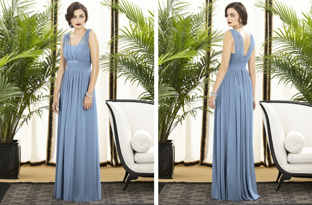 dessy collection style 2897 - beautiful vintage style chiffon bridesmaid dress
