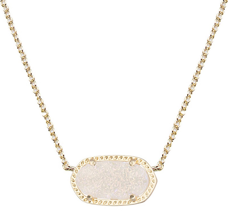 Kendra Scott Elisa Iridescent Drusy Necklace