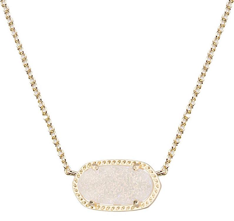 Kendra Scott Elisa Iridescent Drusy Necklace