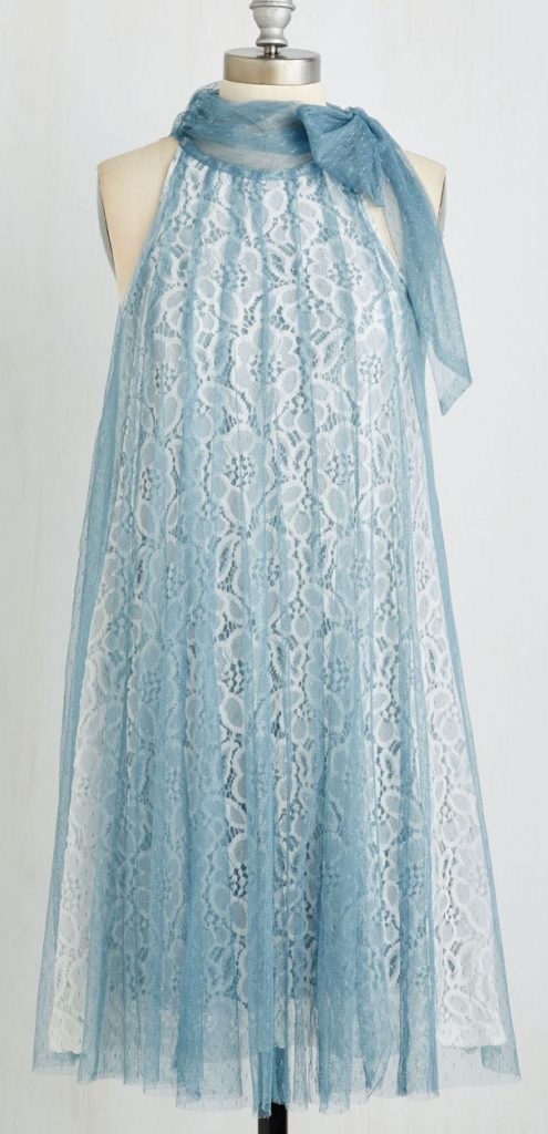 Time and Grace Dress in dusty blue from Modcloth