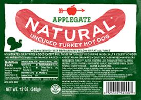 Applegate Natural Turkey Hot Dog