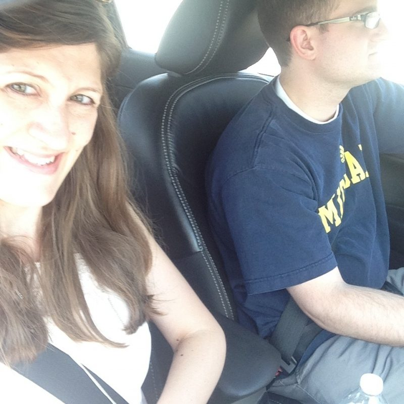 Maria and Rob car selfie