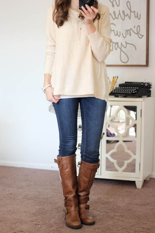 cream sweater from Stitch Fix