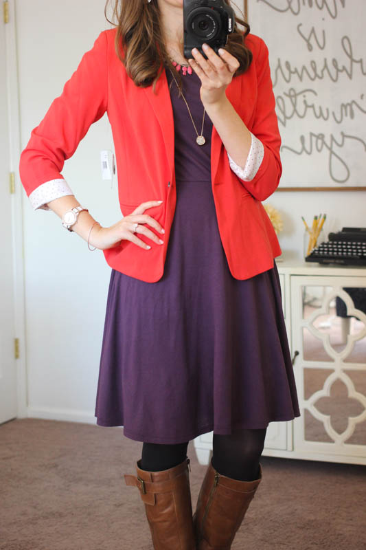 Rebekah Blazer from Kensie and Aleisha Fit and Flare Dress from Three Dots - Stitch Fix