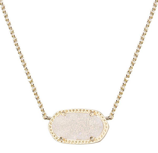 Elisa Necklace in Iridescent Drusy from Kendra Scott