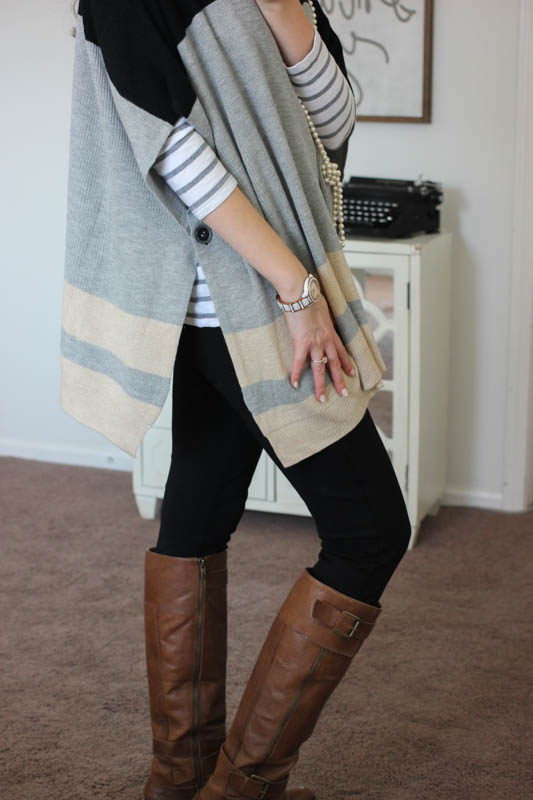 Blake Poncho Pullover Sweater from Colourworks and Rizzo Skinny Pants from Liverpool - Stitch Fix