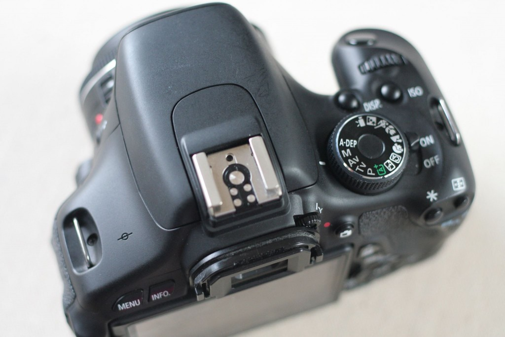 Canon Rebel T3i camera in manual mode