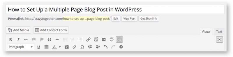 how to create a 2-page blog post