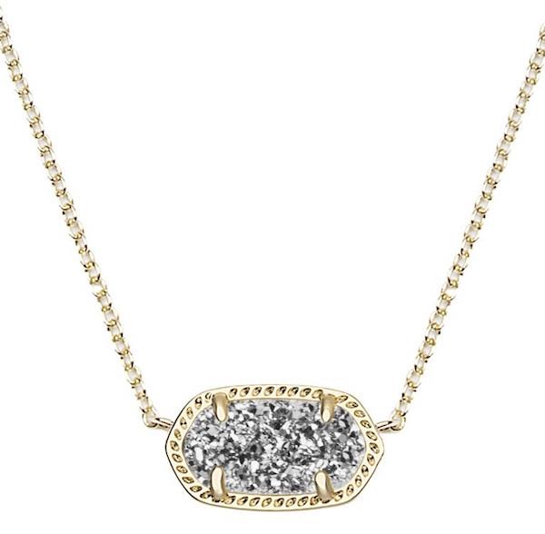 kendra scot elisa necklace platinum drusy