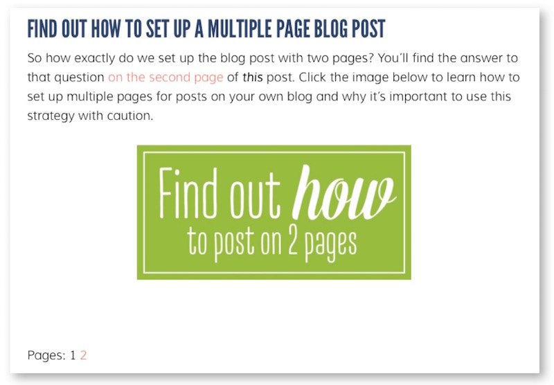 how to write a blog post with 2 pages
