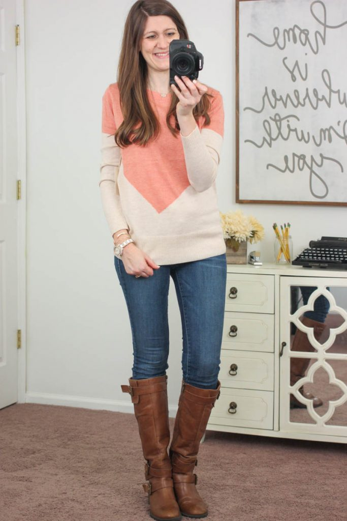 Presley Colorblock Button-Back Sweater from 41Hawthorn - January Stitch Fix