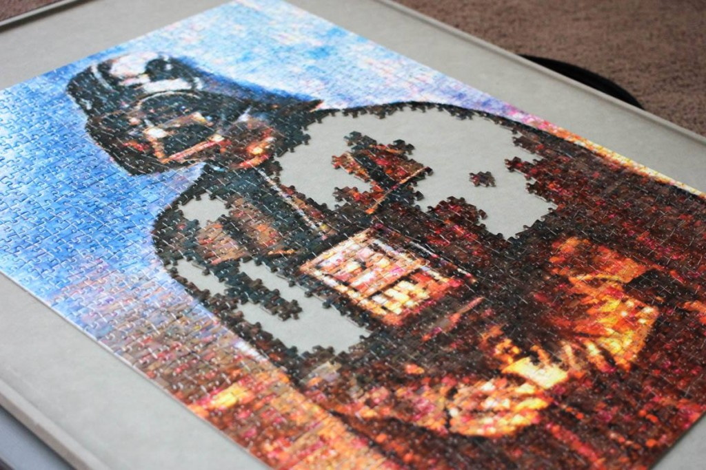 Darth Vader Puzzle Almost Complete