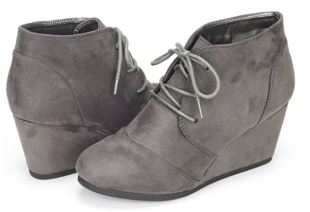 Dream Pairs Women's Fashion Casual Outdoor Low Wedge Heel Booties
