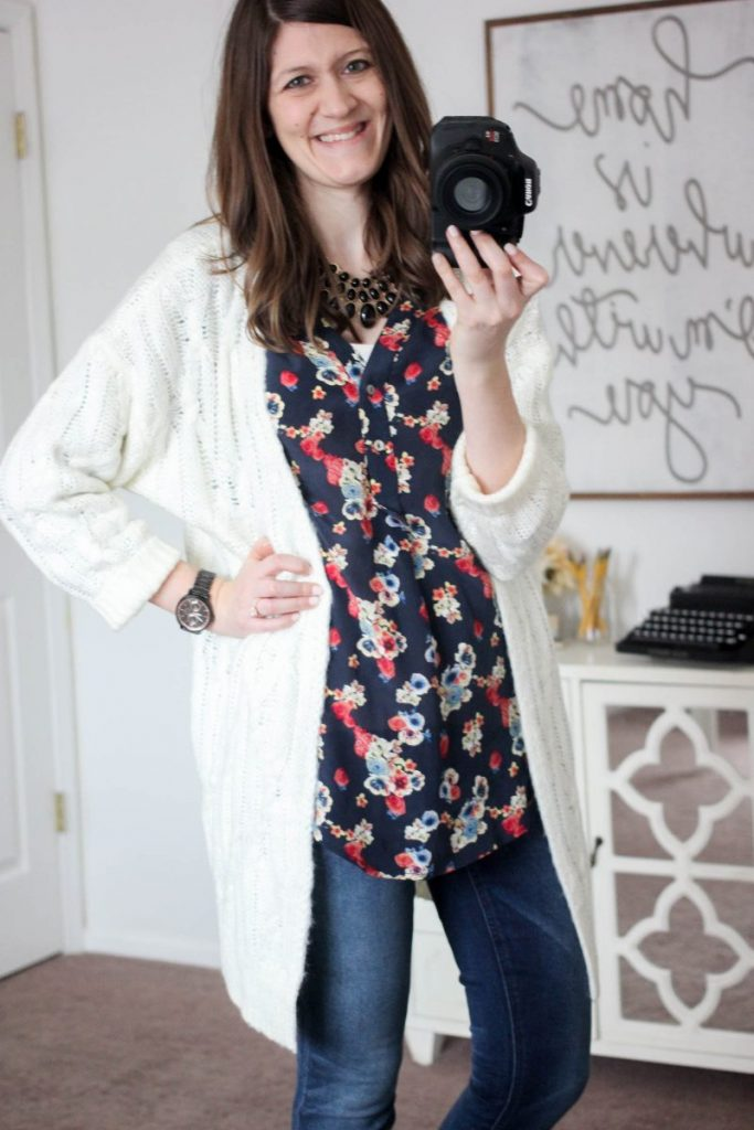 Jardina Cable Knit Open Cardigan from En Crème - February Stitch Fix