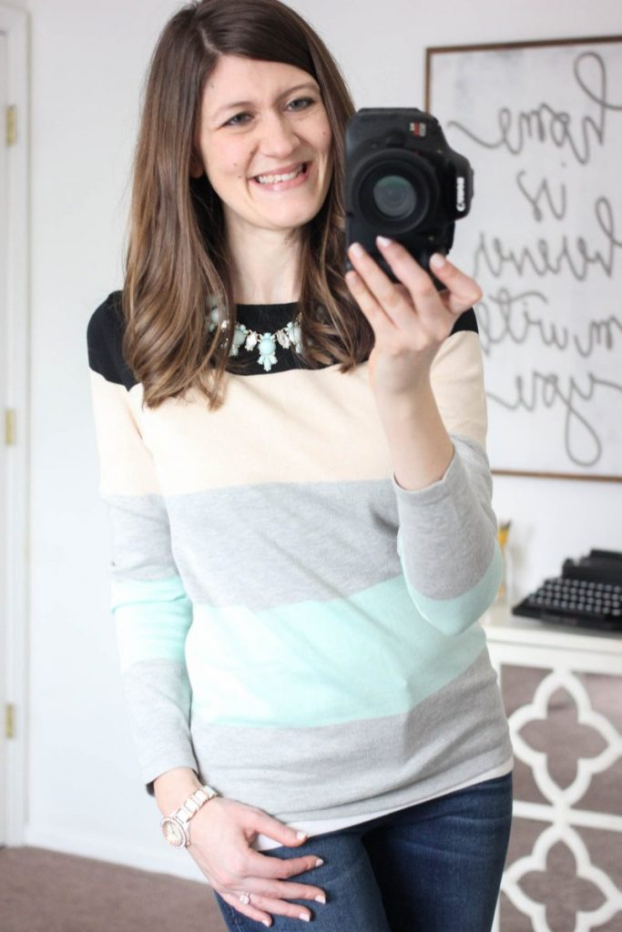 Abrielle Color Block Sweater from Market & Spruce - February Stitch Fix