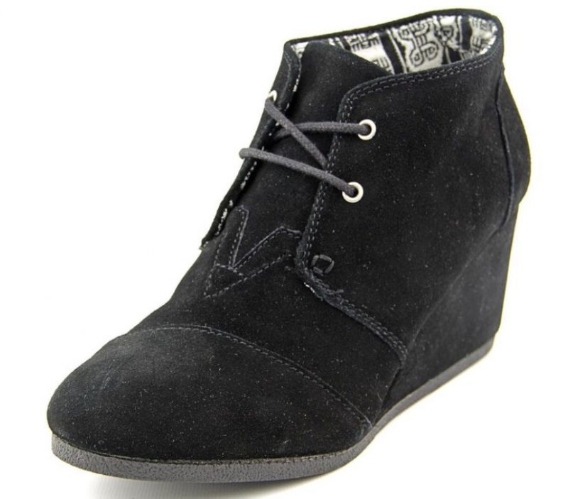 Toms Womens Desert Wedge Suede Boots
