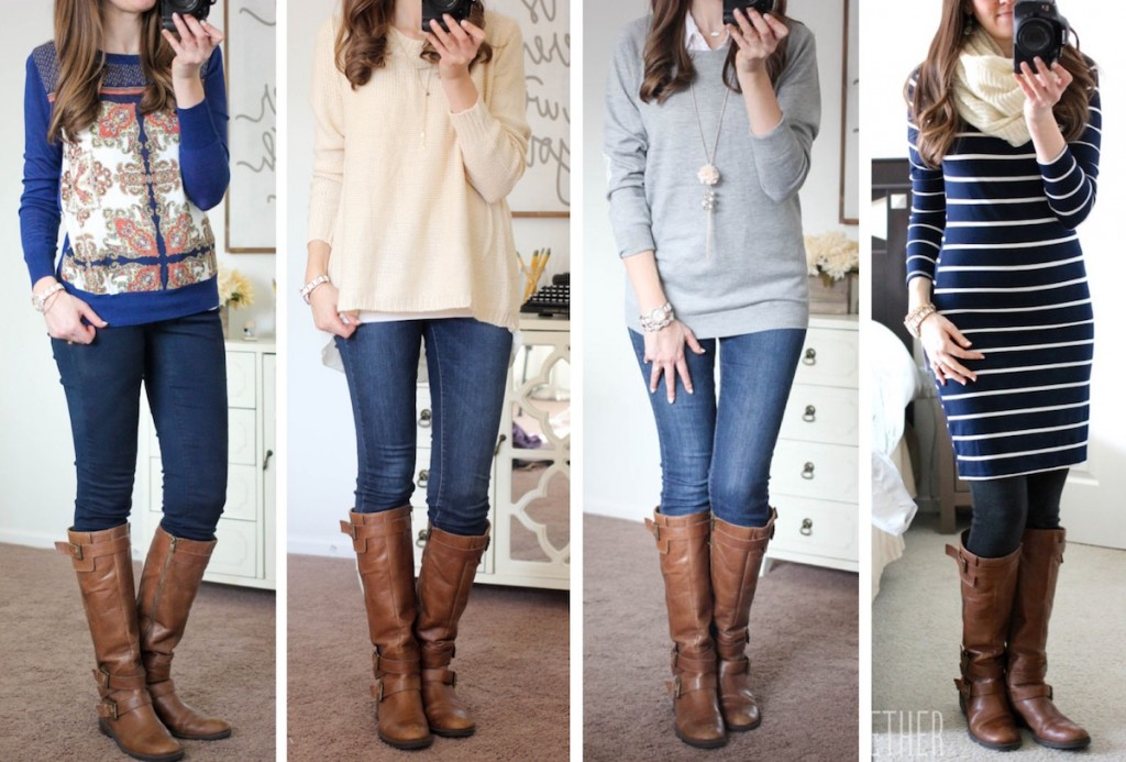 Stitch Fix and brown riding boots