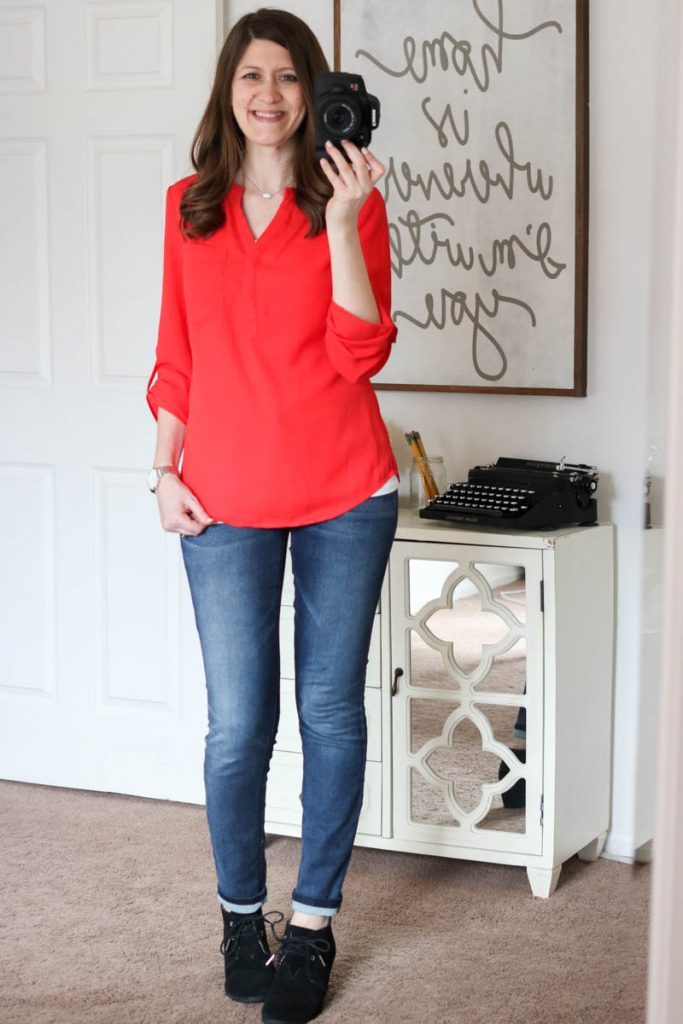 Arca Henley Blouse from Skies are Blue - March Stitch Fix