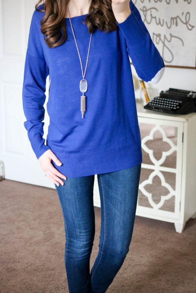 Angus Split Back Mixed Material Sweater from RD Style - March Stitch Fix
