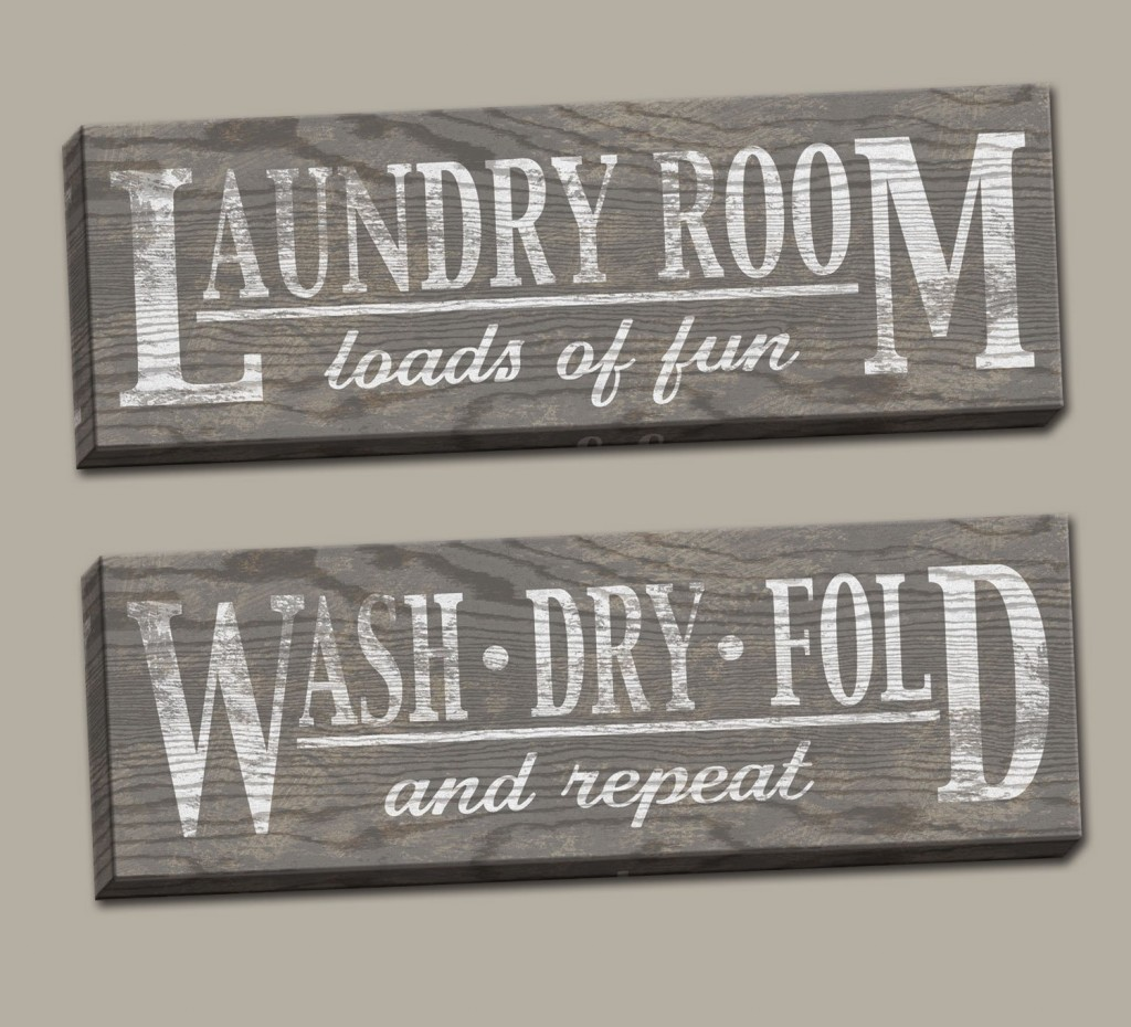 canvas laundry signs
