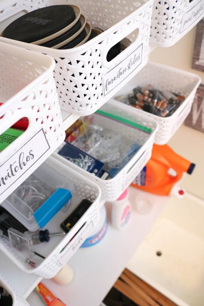 laundry room organization made easy!