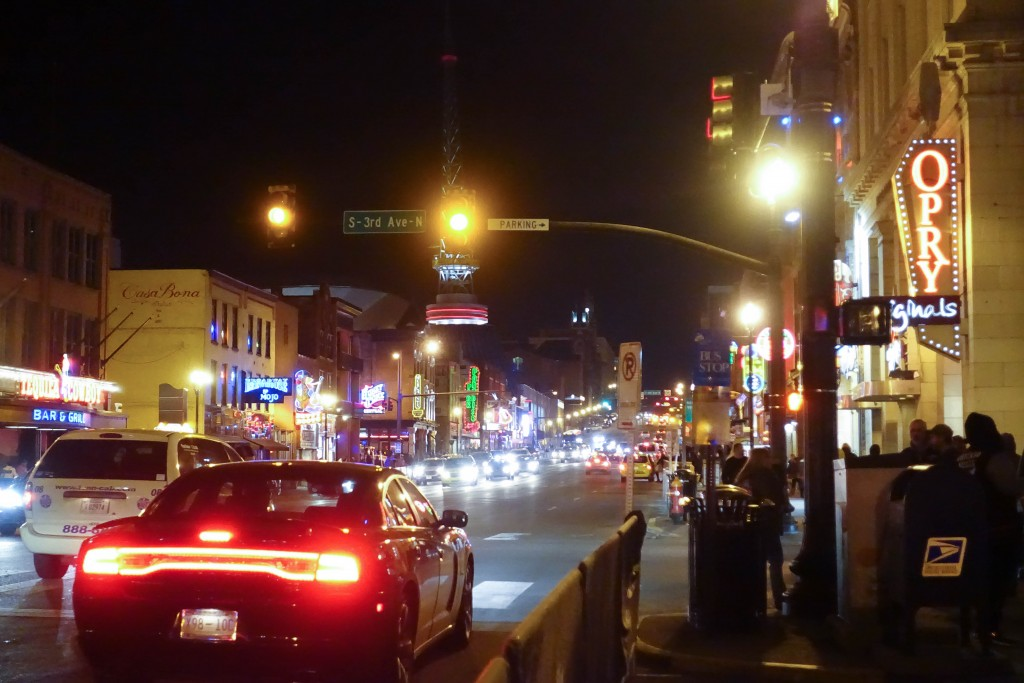 Broadway at Night in Nashville