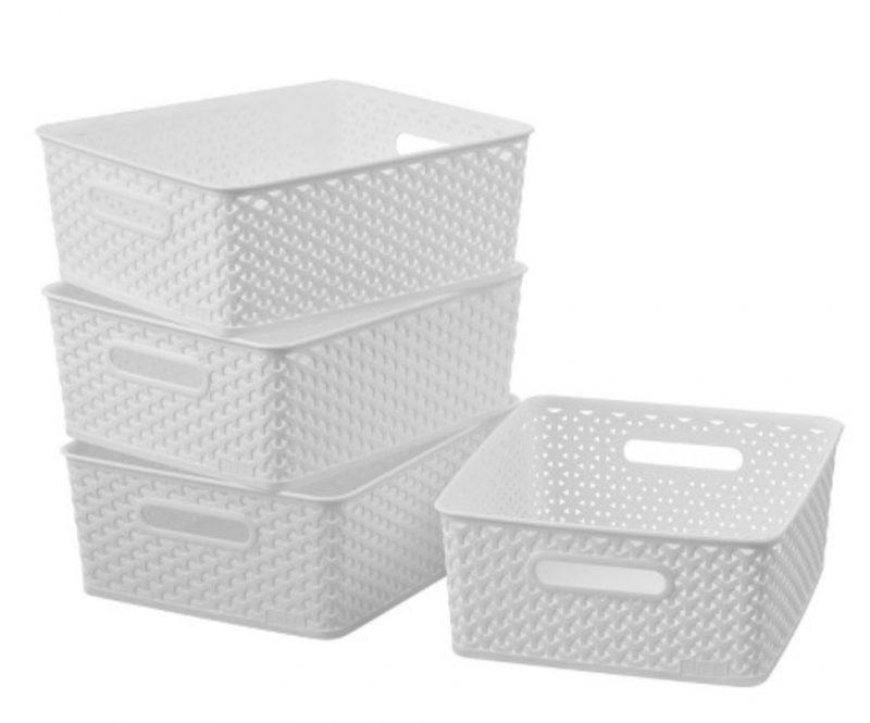 room essentials medium white bin
