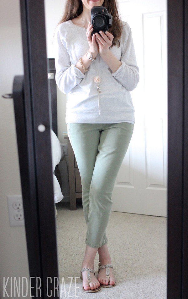 olive Patrick Cropped Chino Pant from Level 99