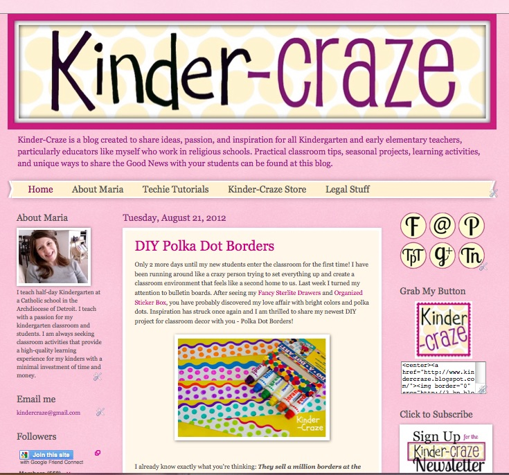 original Kinder-Craze blog