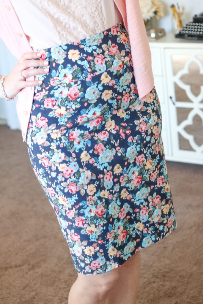 Christiana Printed Pencil Skirt from Margaret M - April Stitch Fix