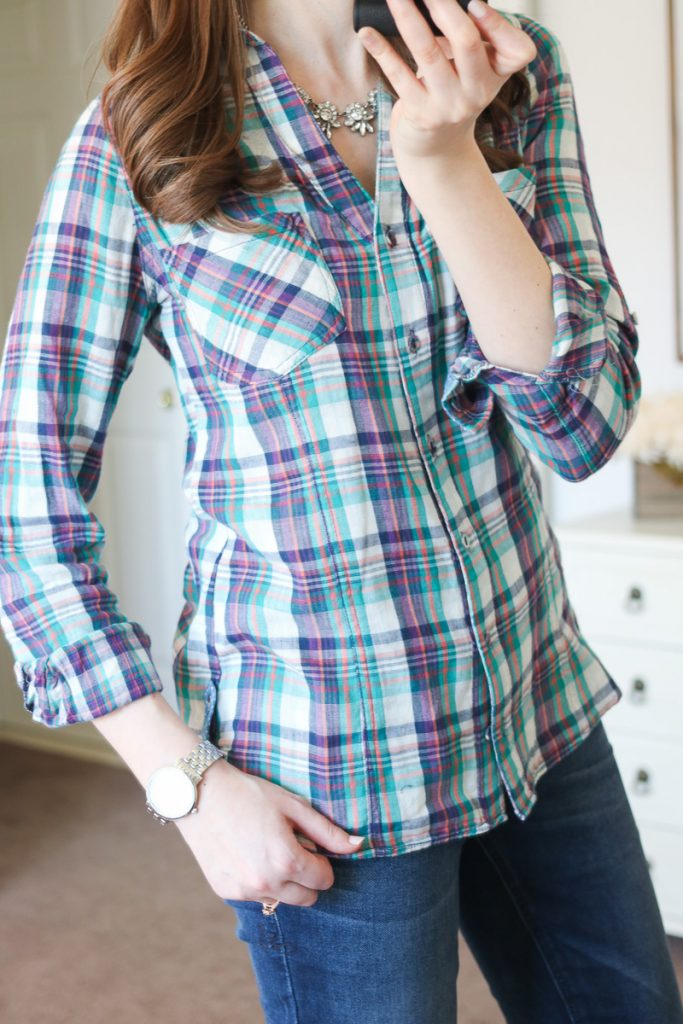 Silva Button Front Top from Skies are Blue - April Stitch Fix