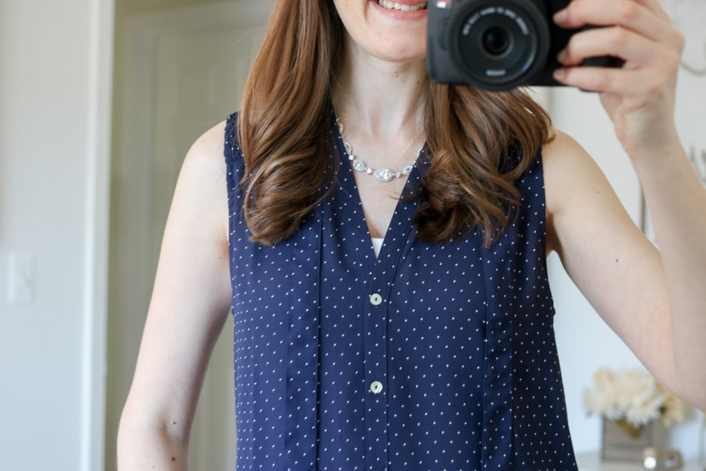 Ramos Tie Neck Blouse from Alice Blue - April Stitch Fix