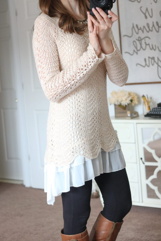 Milly Pointelle Detail Pullover Sweater from Mystree - April Stitch Fix