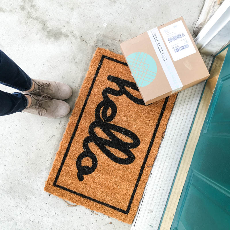 Stitch fix arrives at your door