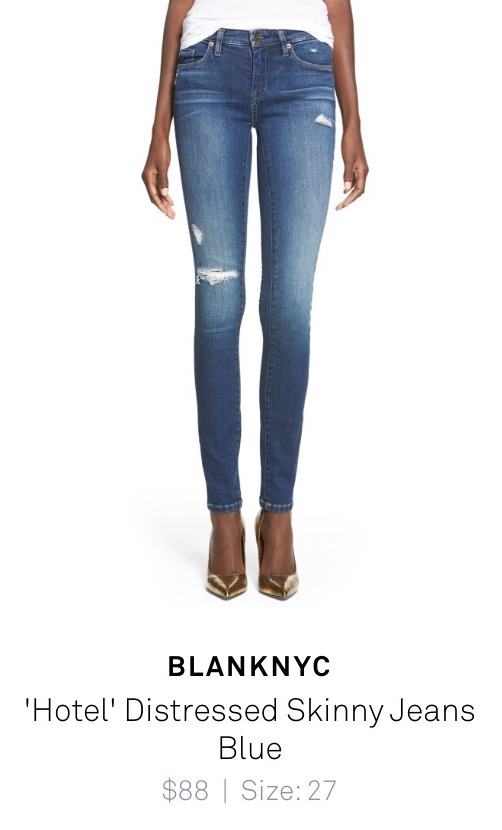 """Hotel"" distressed skinny jeans from BlankNYC - delivered from Trunk Club"