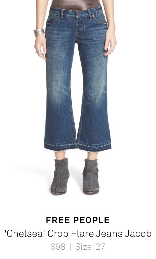 Free People %22Chelsea%22 Crop Flare Jeans Jacob