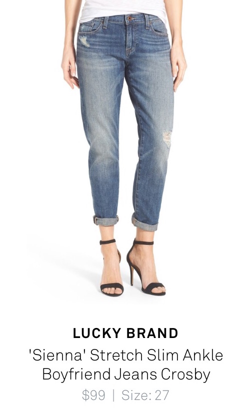 "Lucky Brand - ""Sienna"" stretch slim ankle boyfriend jeans crosby - Trunk Club review"