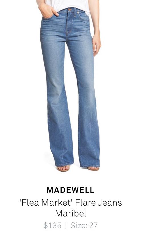 Madewell %22Flea Market%22 Flare jeans Maribel