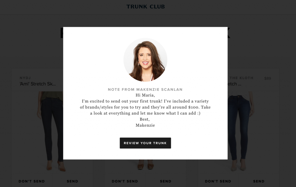 Trunk Club stylist Makenzie
