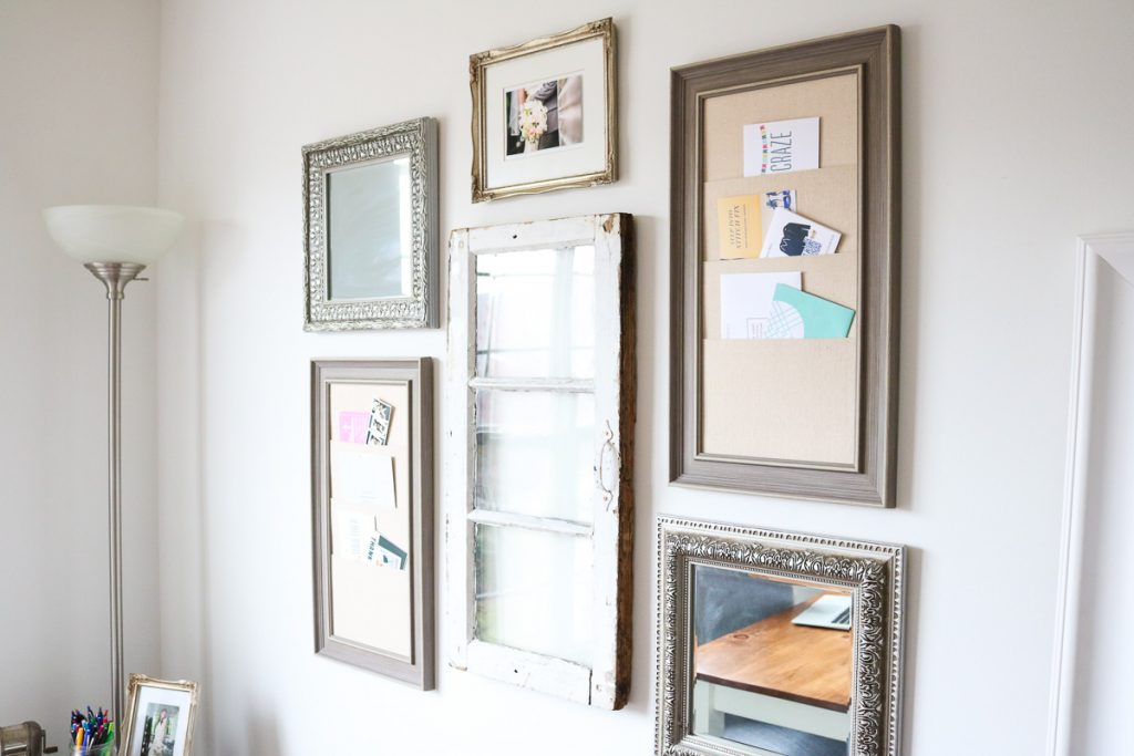 Wall decor in vintage home office